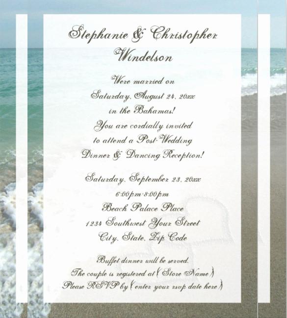 Beach Wedding Invitation Wording Best Of 26 Beach Wedding Invitation Templates Psd Ai Word