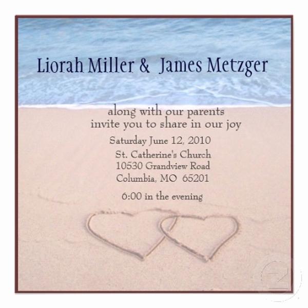 Beach Wedding Invitation Wording Elegant Seal and Send Beach Wedding Invitations to Set the tone