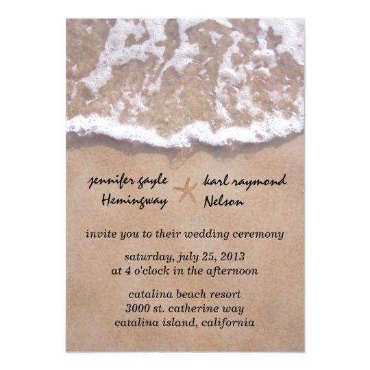 Beach Wedding Invitation Wording New Casual Beach theme Wedding Invitation