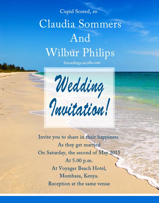 Beach Wedding Invitation Wording Unique Beach Wedding Invitation Wording Samples Wordings and