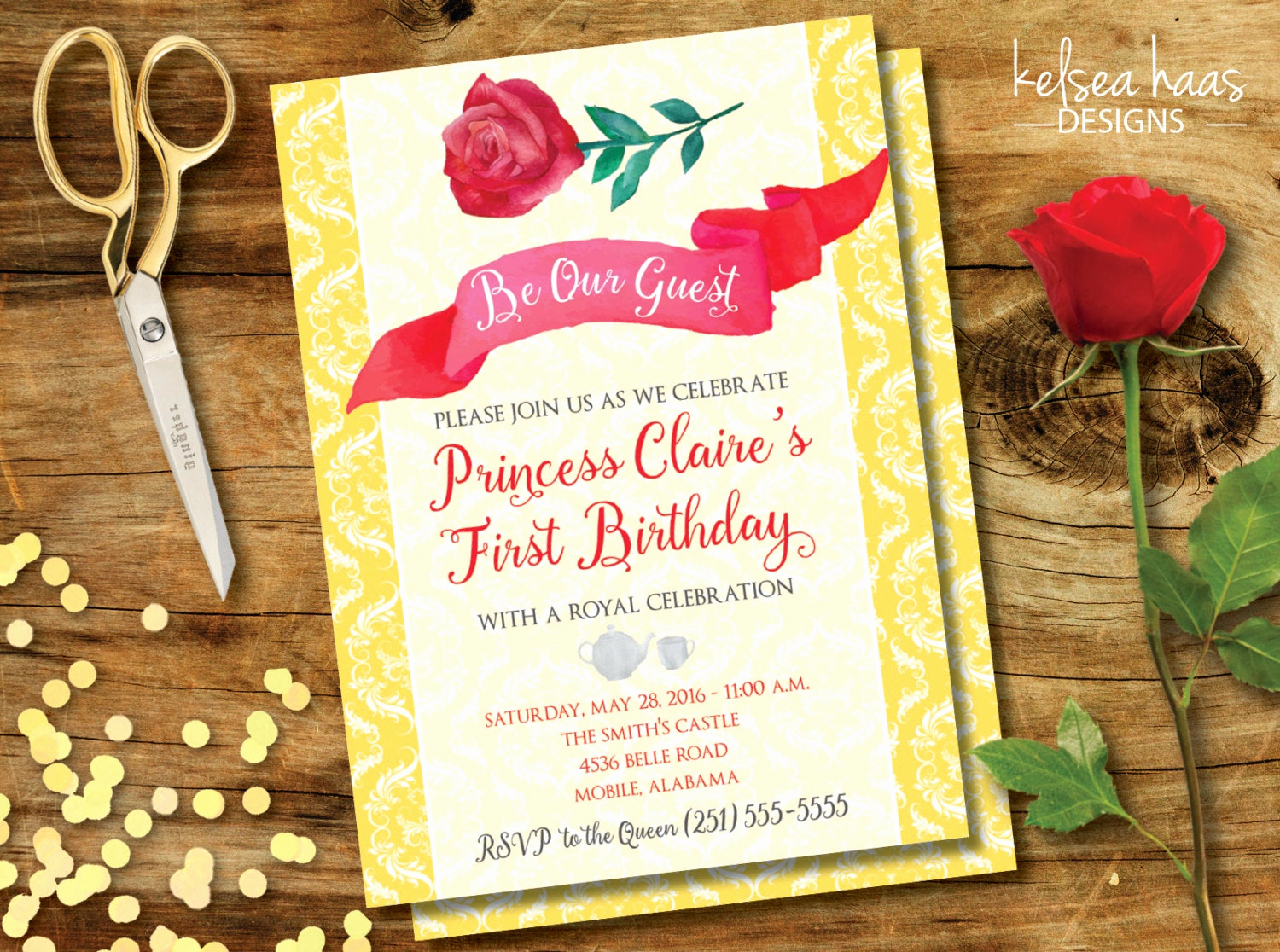 Beauty and the Beast Invitation Beautiful Be Our Guest Printable Invitation Beauty and the Beast Belle