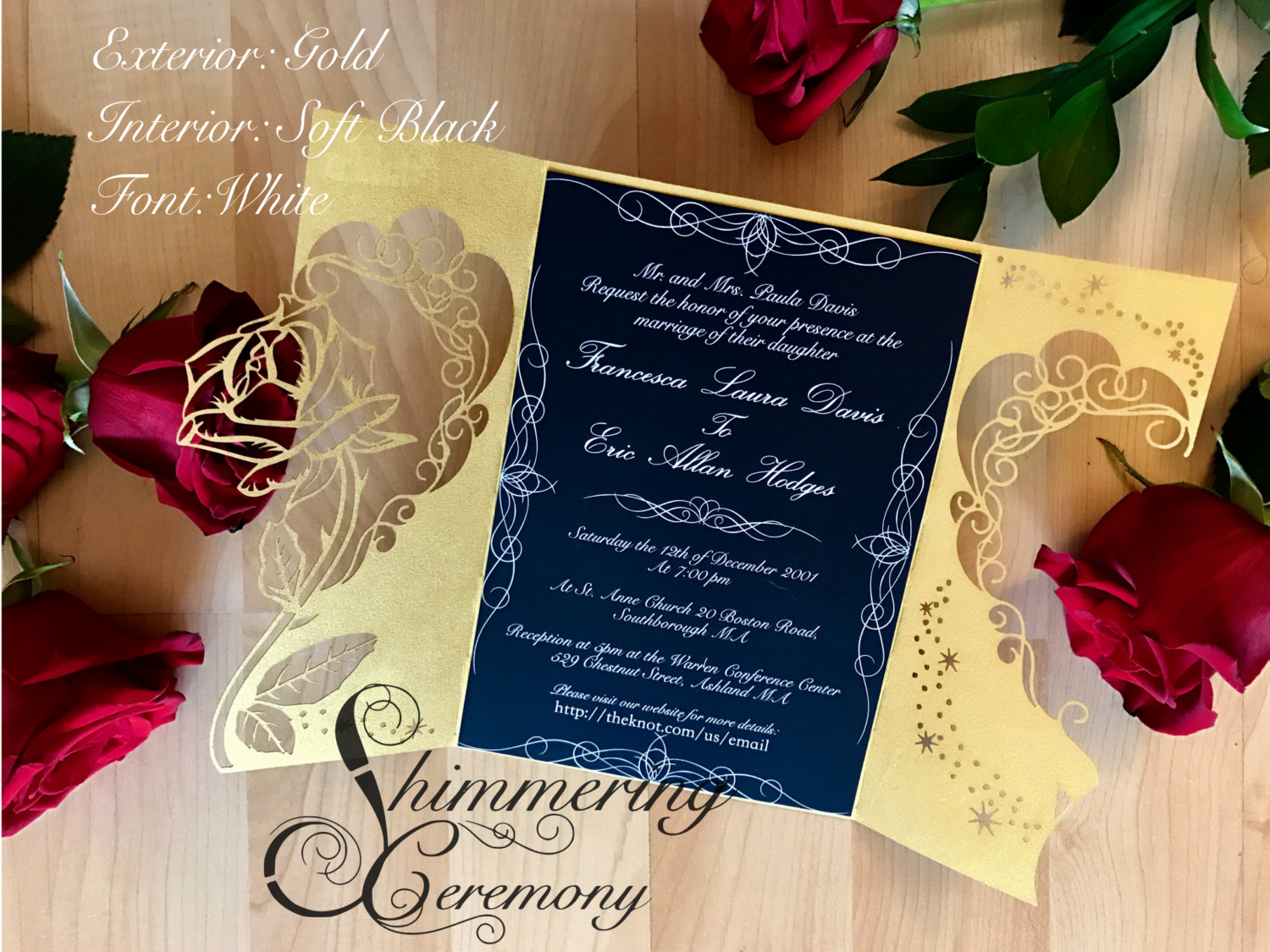 Beauty and the Beast Invitation Best Of Beauty and the Beast Inspired Wedding Invitation Laser