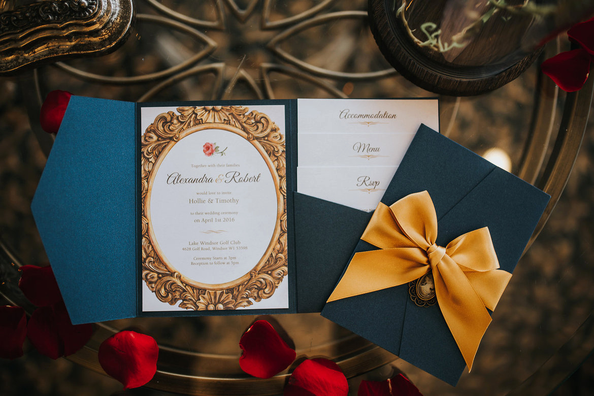 Beauty and the Beast Invitation Elegant Wedding Inspiration Beauty & the Beast
