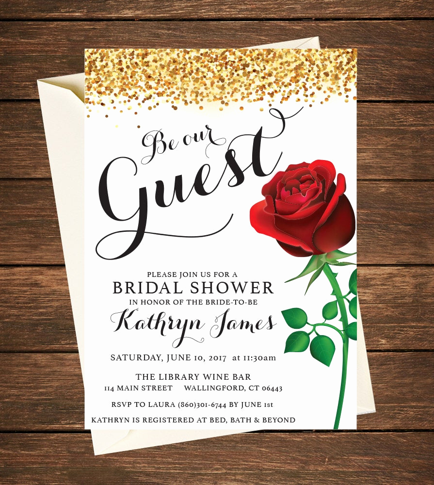 Beauty and the Beast Invitation Fresh Beauty and the Beast Invitation Beauty and the Beast Bridal