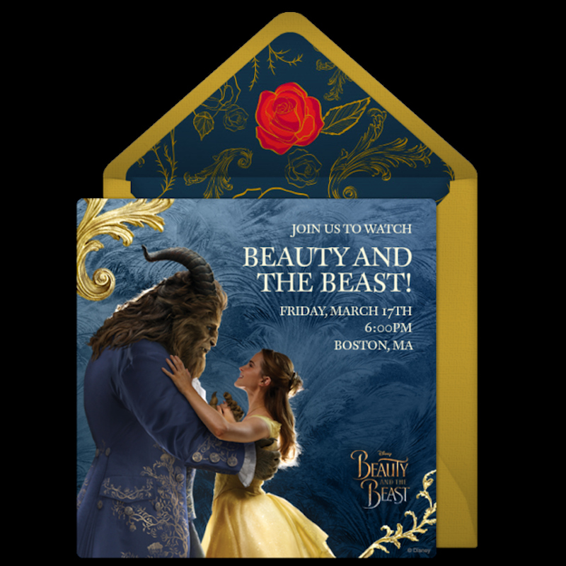Beauty and the Beast Invitation Fresh Beauty and the Beast Party Ideas