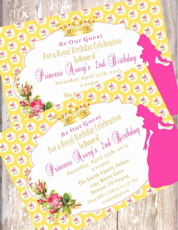 Beauty and the Beast Invitation Luxury Beauty and the Beast Birthday Invitations Printed with