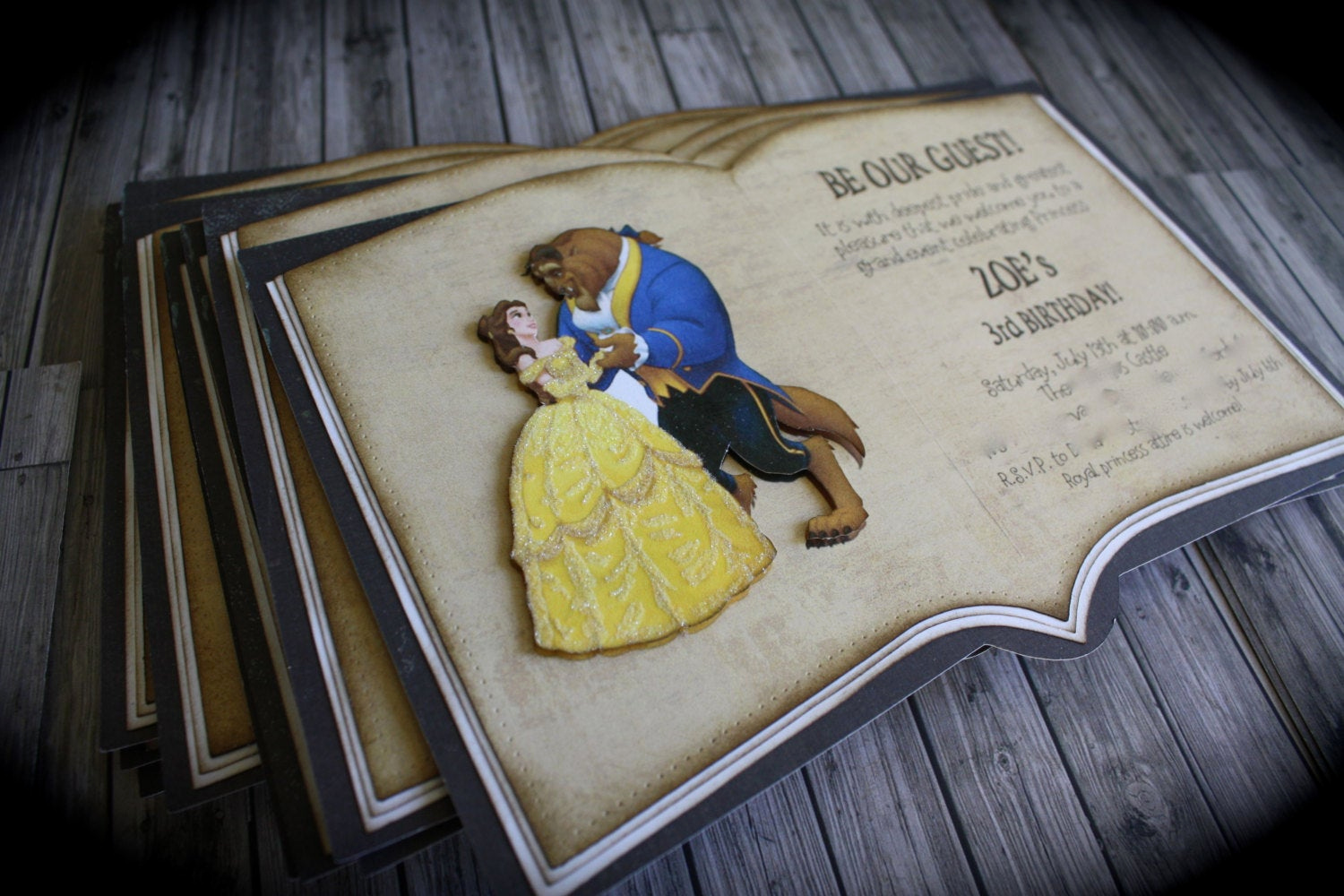 Beauty and the Beast Invitation New Beauty and the Beast Invitation