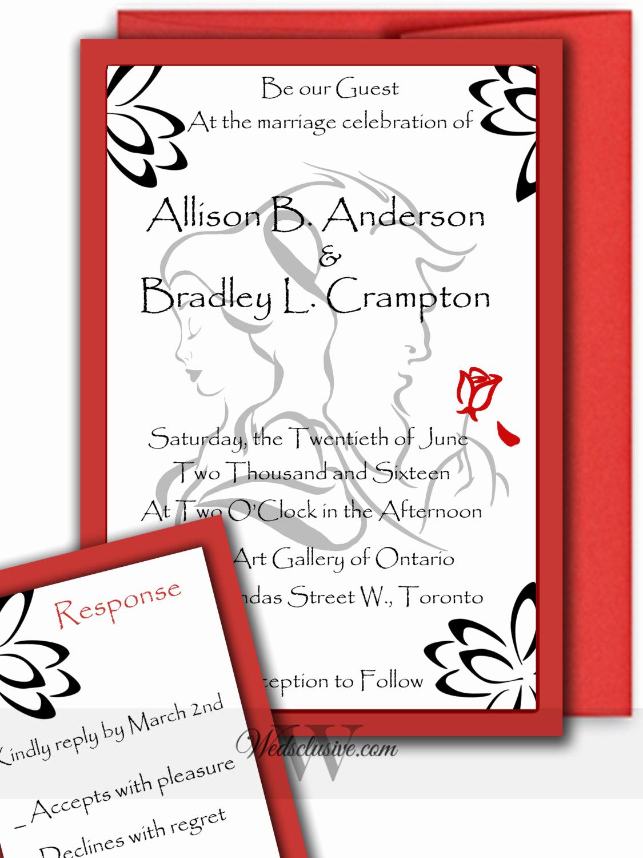 Beauty and the Beast Invitation New Beauty and the Beast Wedding Invitations Romantic Disney