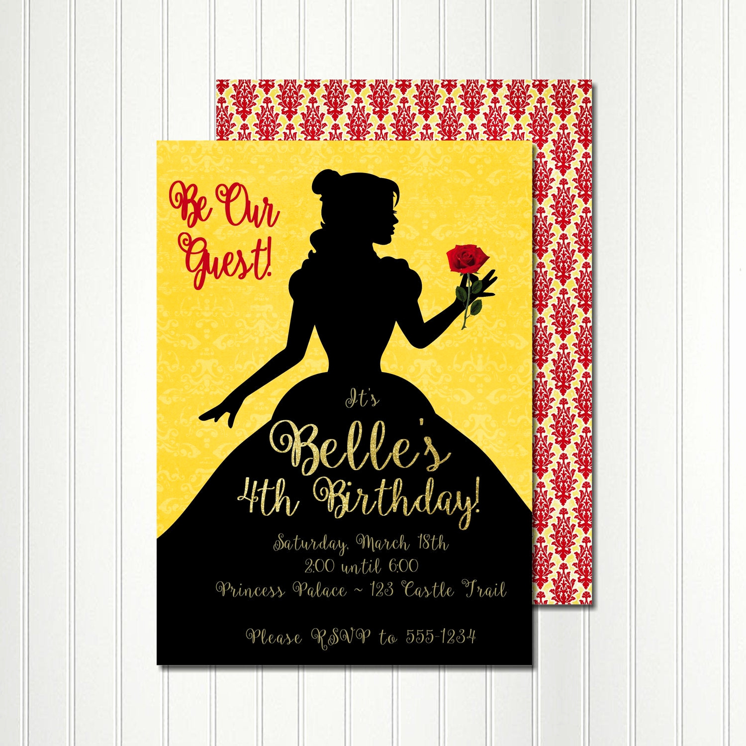 Beauty and the Beast Invitation Unique Belle Invitation Belle Silhouette Belle Birthday Belle