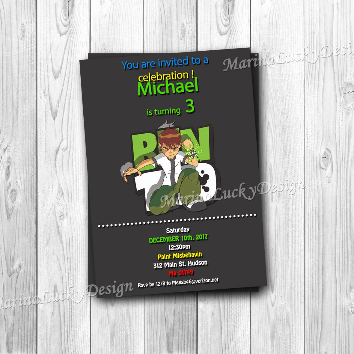 Ben 10 Birthday Invitation Beautiful Ben 10 Invitation Ben 10 Birthday Invitation Ben 10 Party