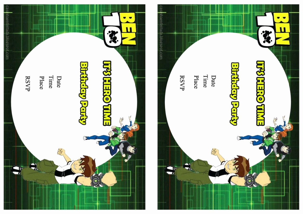 Ben 10 Birthday Invitation Best Of Ben 10 Birthday Invitations