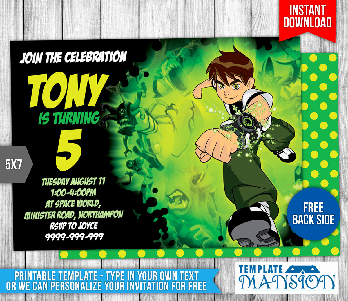 Ben 10 Birthday Invitation Best Of Ben10 Birthday Invitation by Templatemansion On Deviantart