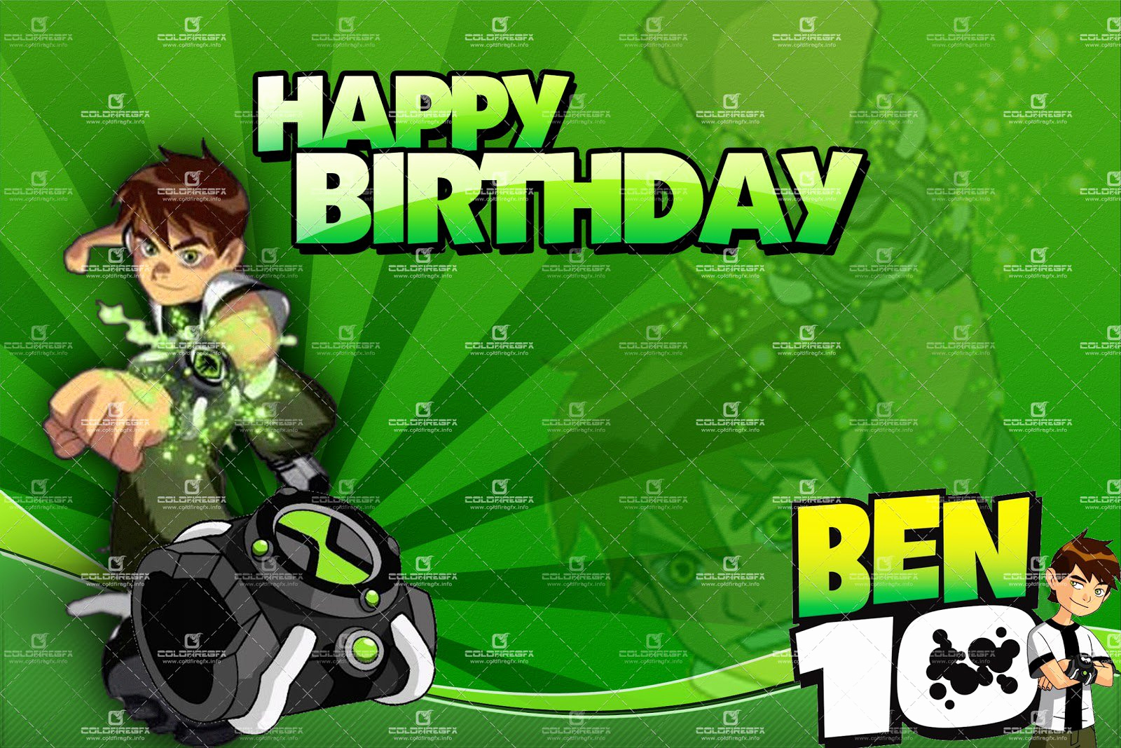 Ben 10 Birthday Invitation Elegant Ben 10 Birthday Invitations