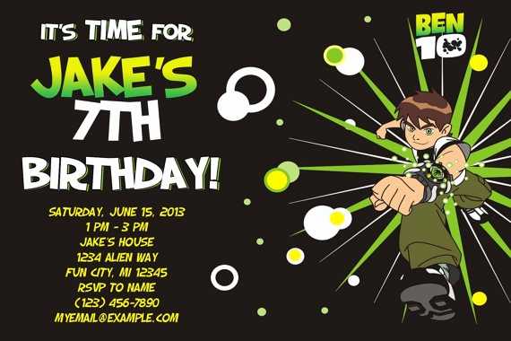 Ben 10 Birthday Invitation Unique 48 Best Images About Ben 10 Party On Pinterest