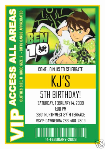 Ben 10 Birthday Invitation Unique Ben 10 Birthday Invite Mason S Birthday