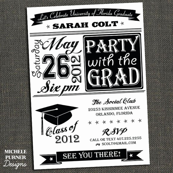 Best Graduation Invitation Designs Fresh Items Similar to High School or College Graduation Party
