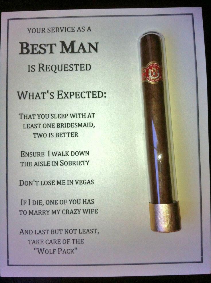 Best Man Invitation Ideas Beautiful Diy Best Man Groomsman Invites with Cigar Used