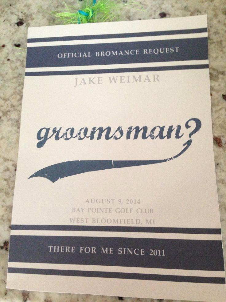 Best Man Invitation Ideas Inspirational 25 Best Ideas About Groomsmen Invitation On Pinterest