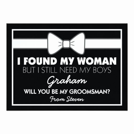 Best Man Invitation Ideas Lovely Best 25 Be My Groomsman Ideas On Pinterest