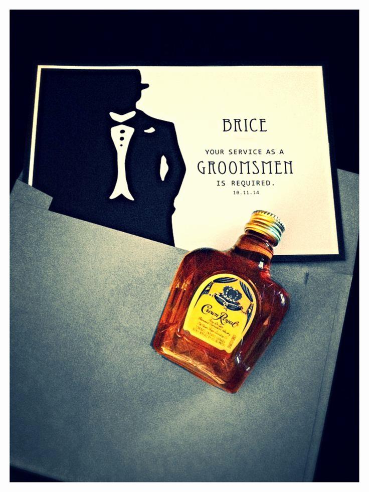 Best Man Invitation Ideas New Best 25 Groomsmen Invitation Ideas On Pinterest