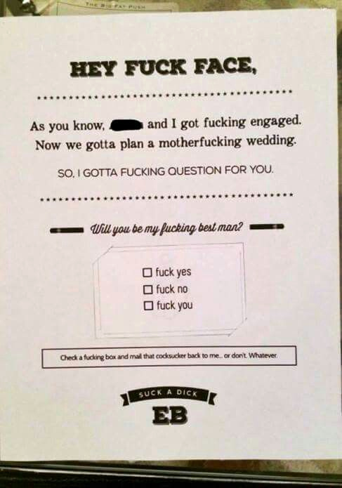 Best Man Invitation Ideas Unique Best Man Invite Done Well Hahaha