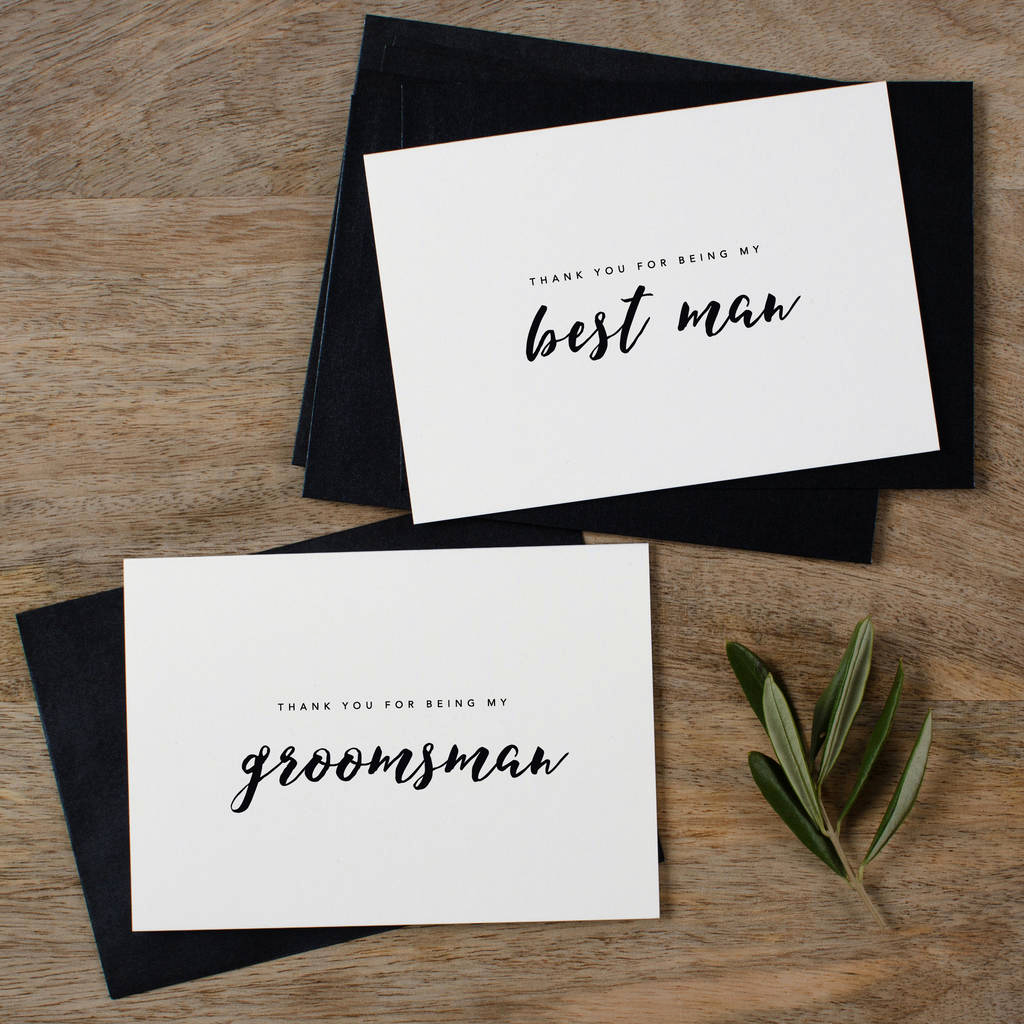 Best Man Invitation Ideas Unique Groomsman or Best Man Thank You Wedding Cards by Kismet