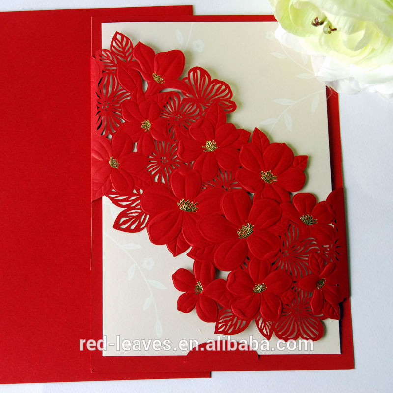 Best Wedding Invitation Cards Designs Unique Laser Cut Elegant Flower Wedding Card Design Foilding