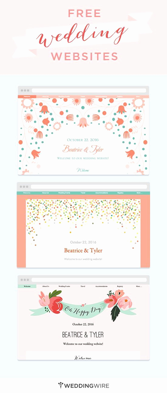 Best Wedding Invitation Sites Awesome Create A Wedding Website to Share Big Day Details with