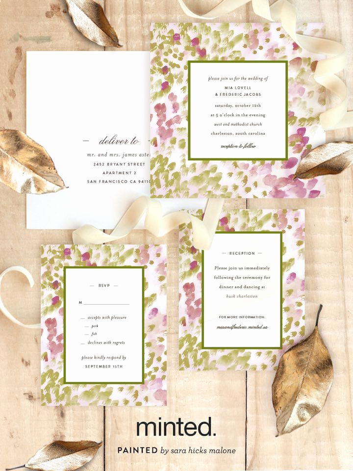 Best Wedding Invitation Sites Fresh Minted Free Wedding Websites with Matching Invitations