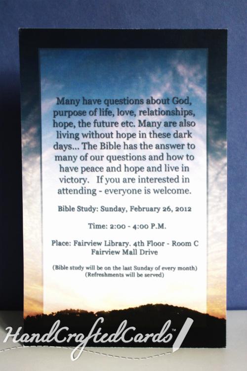 Bible Study Invitation Wording Beautiful Sunset Bible Study Invitation by Handcraftedcards On