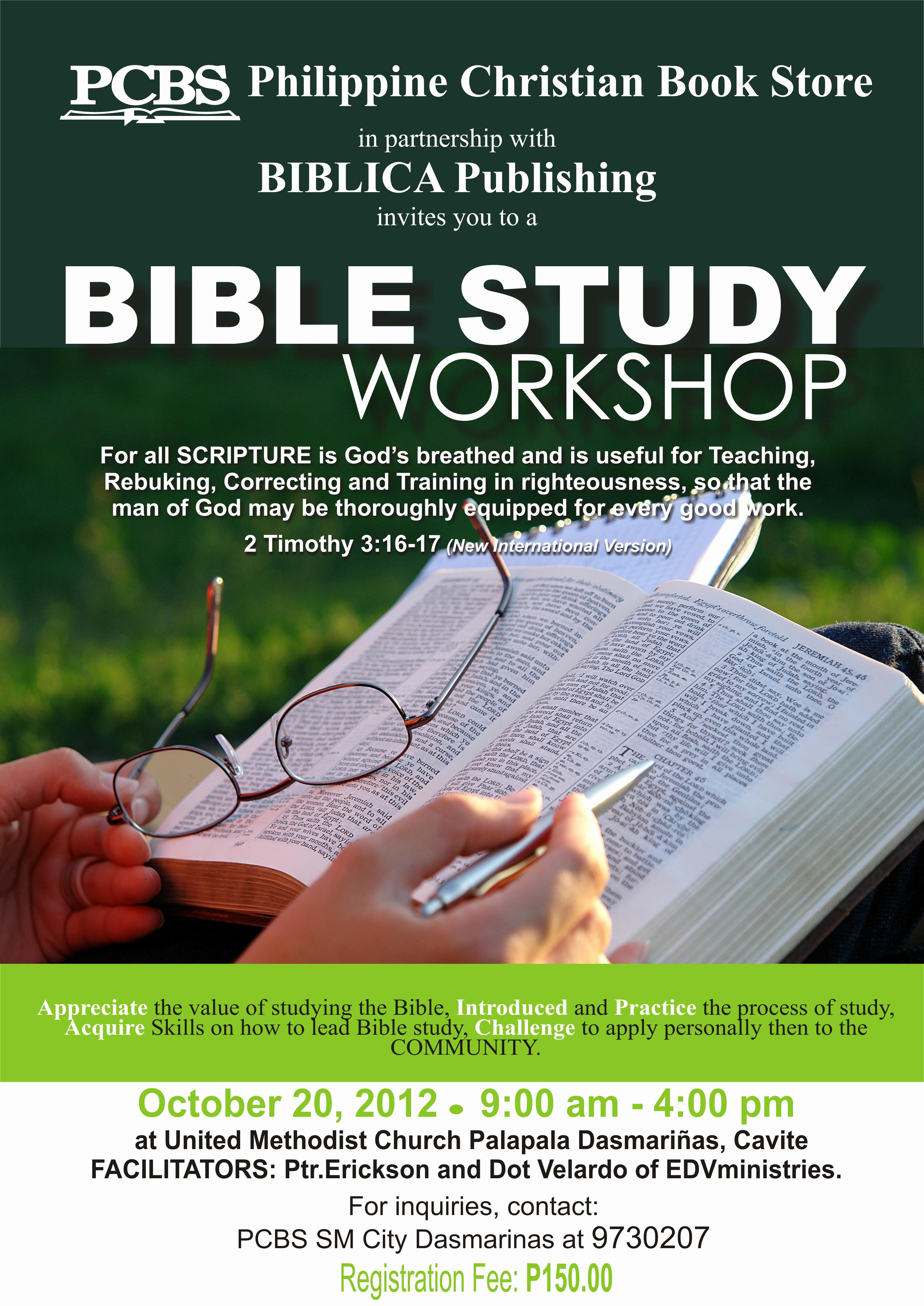 Bible Study Invitation Wording Elegant Bible Study Workshop at Pcbs Cavite