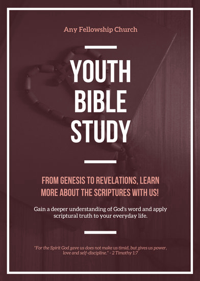 Bible Study Invitation Wording Elegant Customize 67 Church Flyer Templates Online Canva