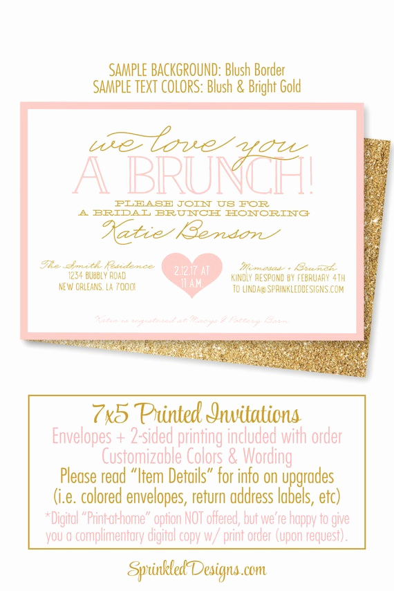 Birthday Brunch Invitation Wording Beautiful Bridal Shower Invitation Bridal Brunch Invites Brunch