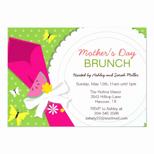 Birthday Brunch Invitation Wording Elegant Mother S Day Brunch Party Invitations