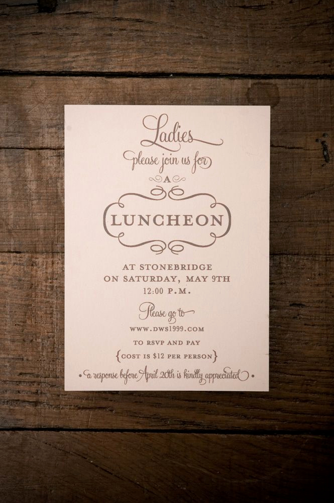 Birthday Brunch Invitation Wording Fresh La S Luncheon Invitation Print Invitations Print