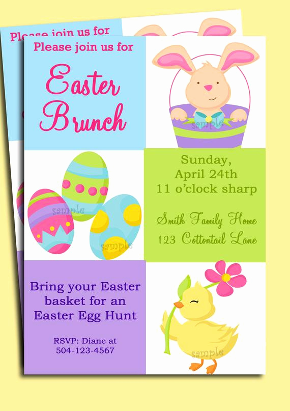 Birthday Brunch Invitation Wording Luxury Items Similar to Easter Invitation Printable or Printed