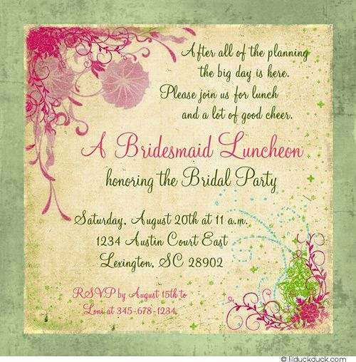 Birthday Brunch Invitation Wording New 25 Best Ideas About Bridal Luncheon Invitations On