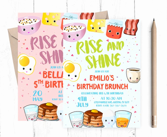 Birthday Brunch Invitation Wording New Breakfast Invitation Birthday Brunch Invitation Kids