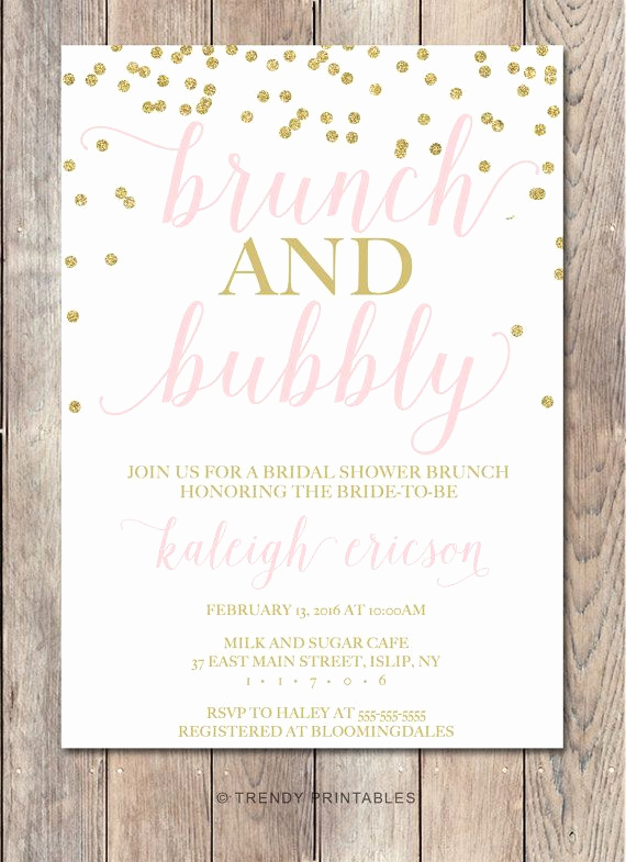 Birthday Brunch Invitation Wording Unique Bridal Shower Invitation Bridal Shower Invite Brunch