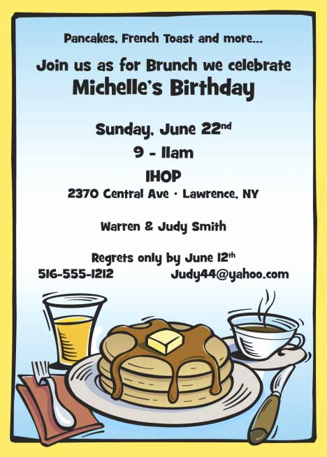 Birthday Brunch Invitation Wording Unique Brunch Invitation