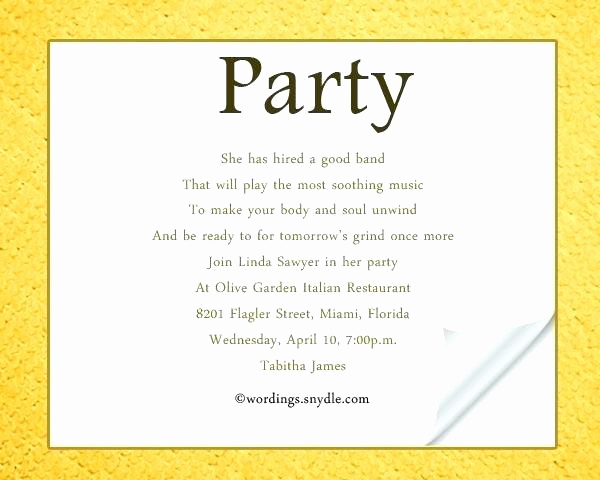 Birthday Dinner Invitation Wording Inspirational Casual Dinner Party Invitation Wording