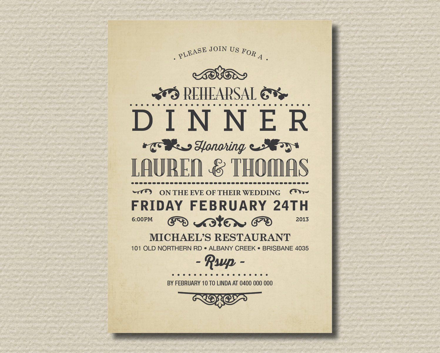 Birthday Dinner Invitation Wording Lovely Wedding Dinner Invitation Wording