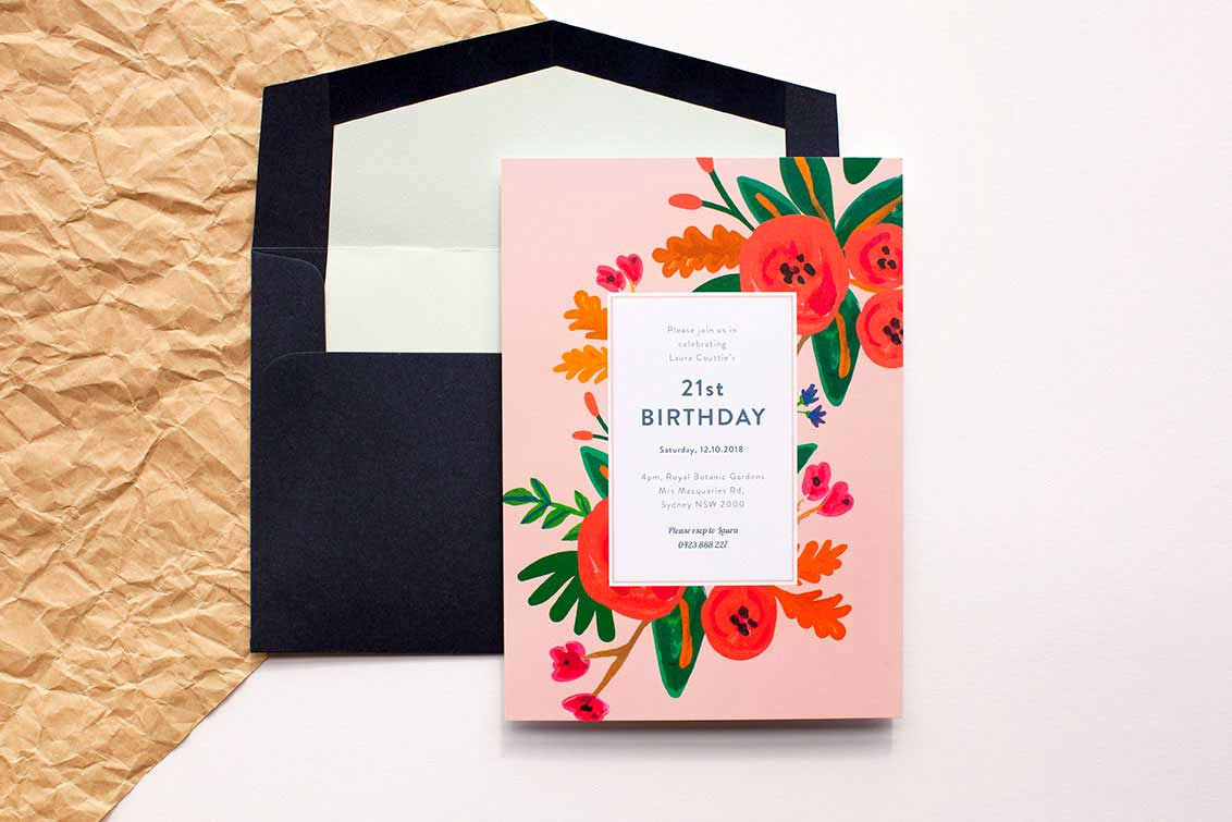 Birthday Invitation Card Ideas Awesome 21st Birthday Ideas themes Invites and Ts Paperlust