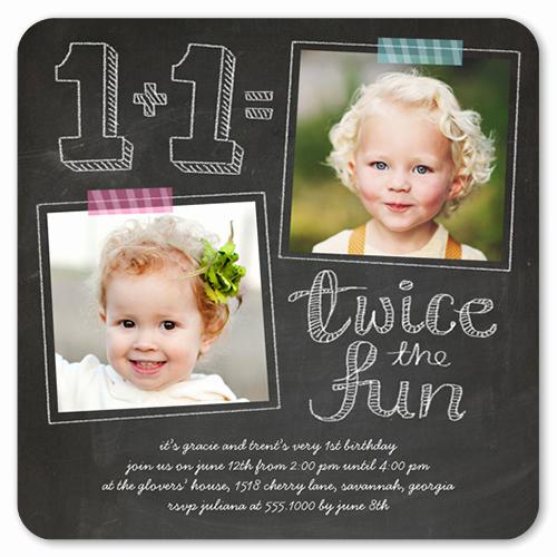 Birthday Invitation Card Ideas Inspirational Twice as Fun Twin Birthday Invitation