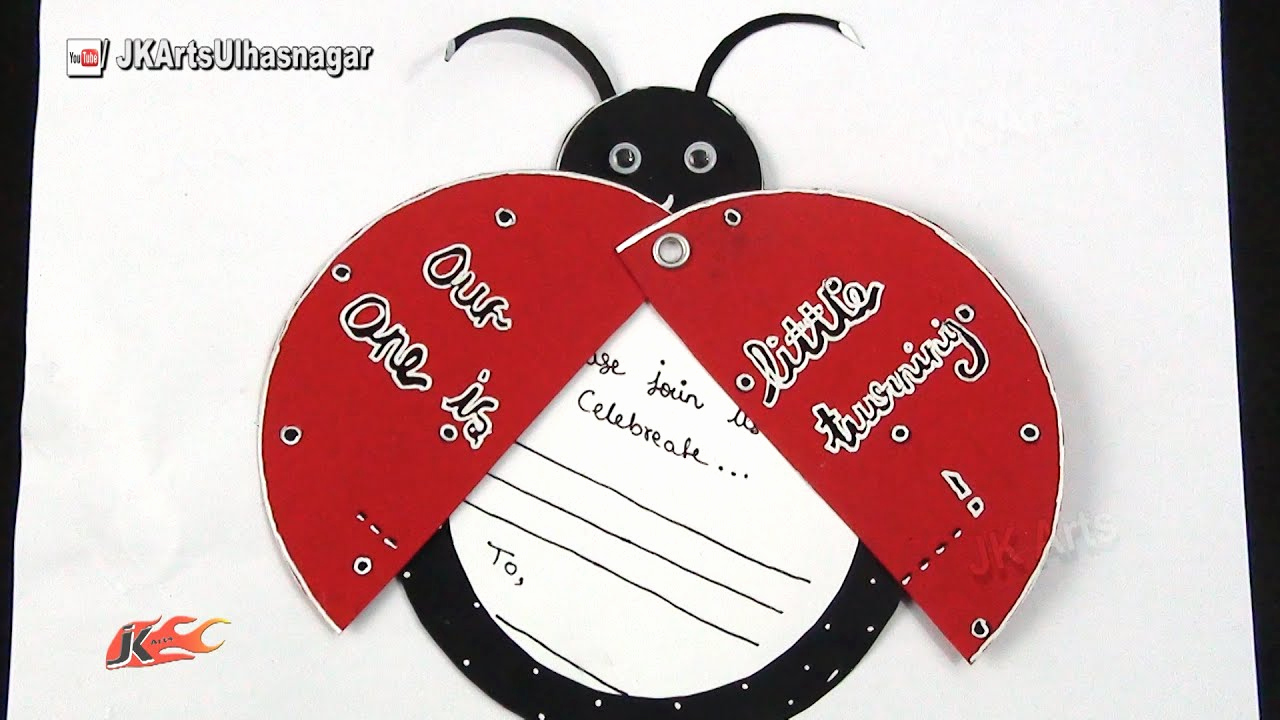 Birthday Invitation Card Ideas New Diy Ladybug Inexpensive Birthday Invitations Card Idea