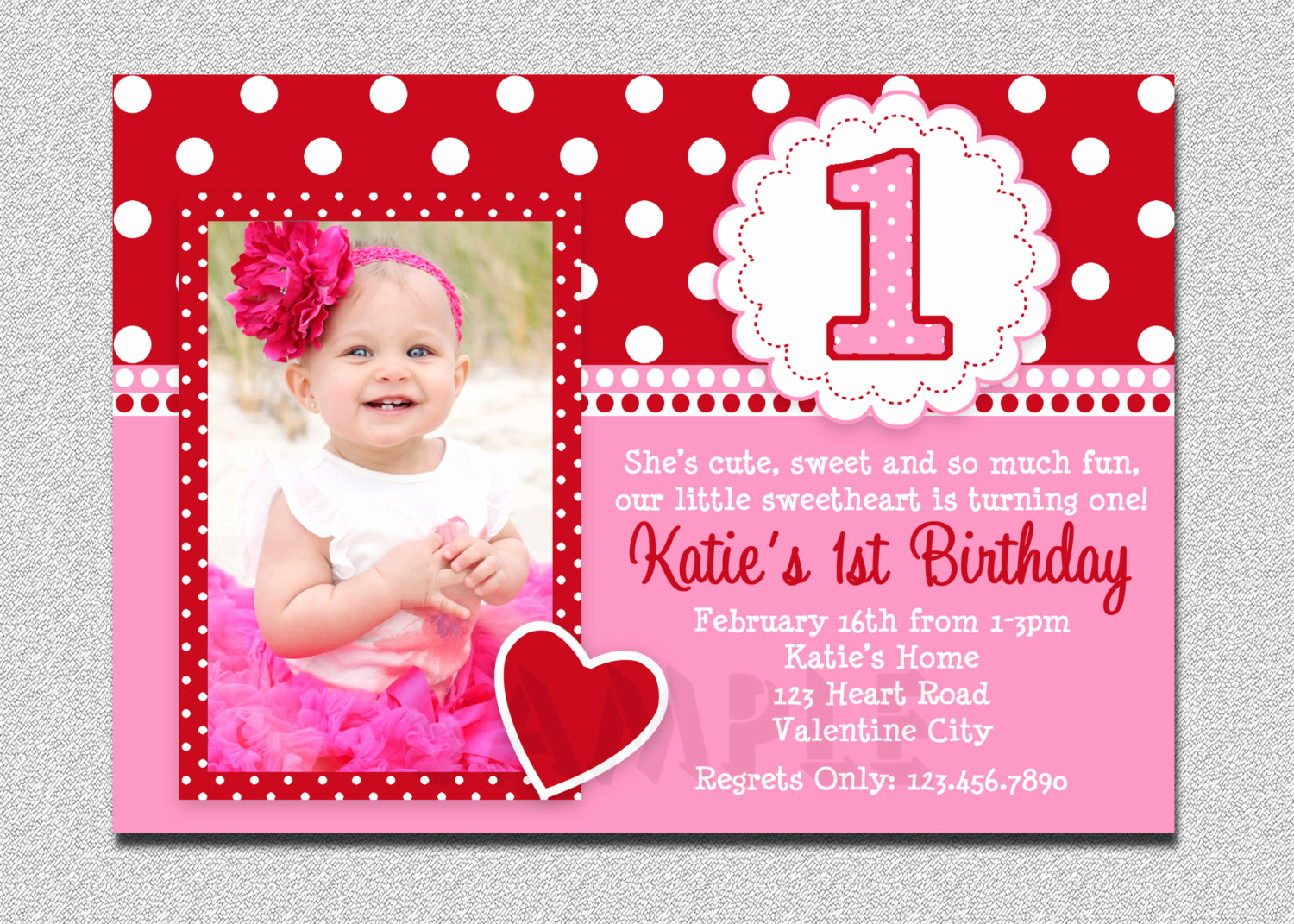 Birthday Invitation Card Sample Awesome Free Printable 1st Birthday Invitations Girl – Free