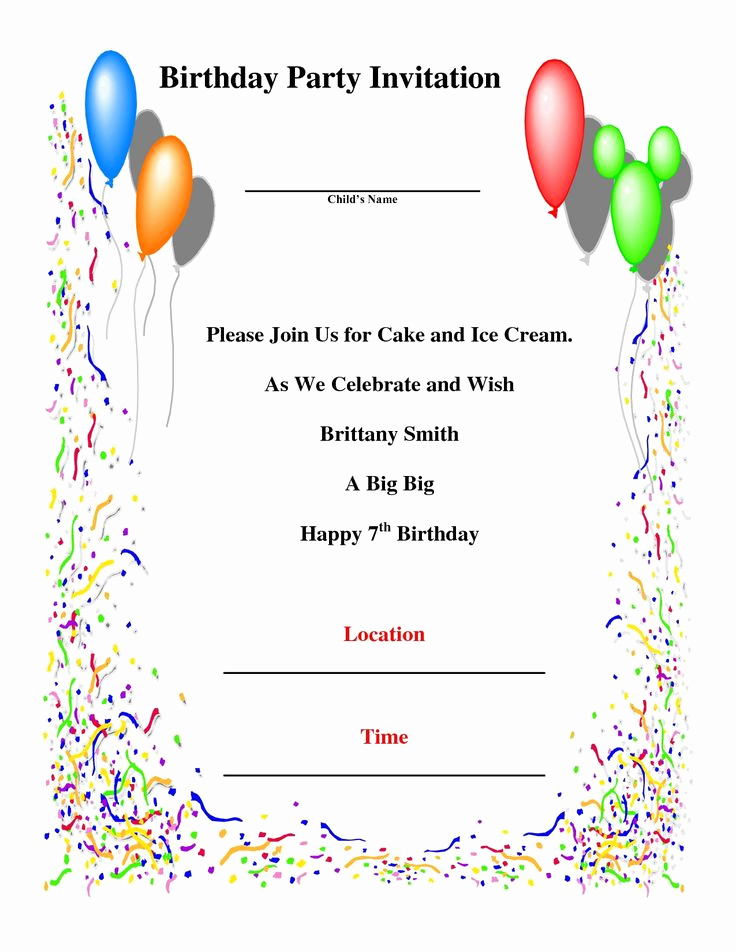 Birthday Invitation Card Sample Fresh 1000 Ideas About Birthday Invitation Templates On