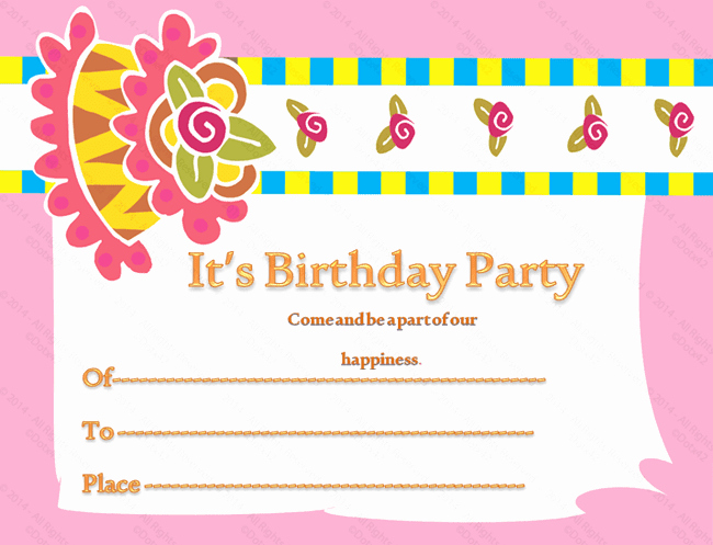 Birthday Invitation Card Sample Inspirational Birthday Gift Certificate Templates