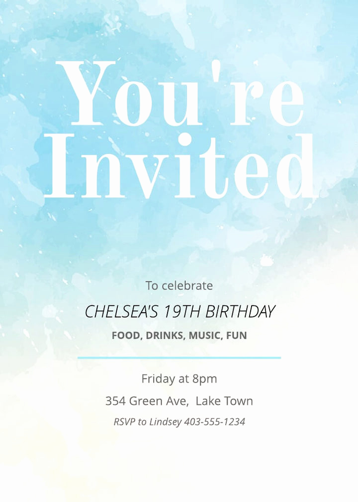 Birthday Invitation Card Sample Inspirational Free Printable Invitation Card Templates