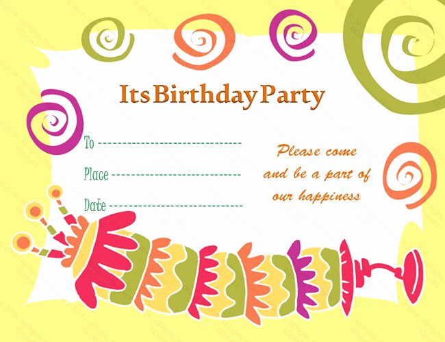 Birthday Invitation Card Sample Lovely Birthday Invitation Card Template V1 0